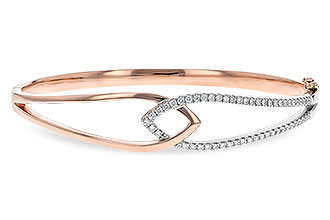 C234-98982: BANGLE BRACELET .50 TW (ROSE & WG)